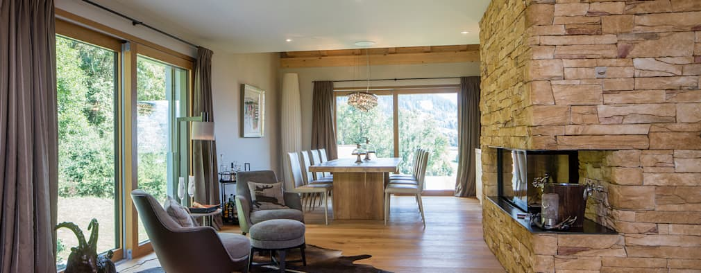 modern Living room by BAUR WohnFaszination GmbH