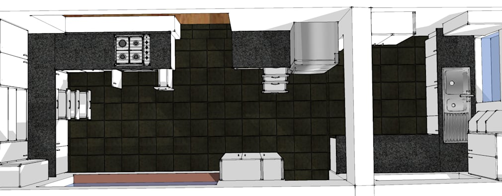 Design Overall view.:   by Boss Custom Kitchens (PTY)LTD