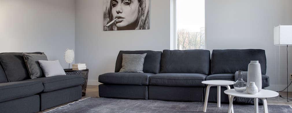 Eigentijds interieur met een schitterende zwart wit look for Dec design interieur