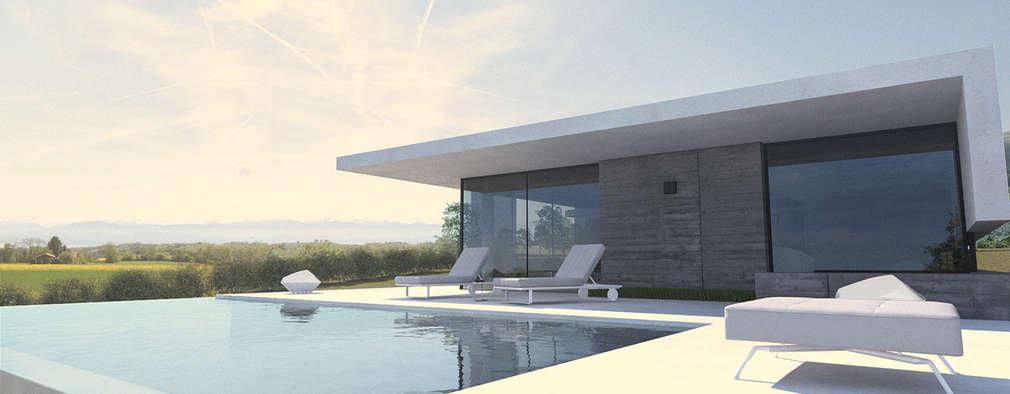 moderner Pool von ARRIVETZ & BELLE