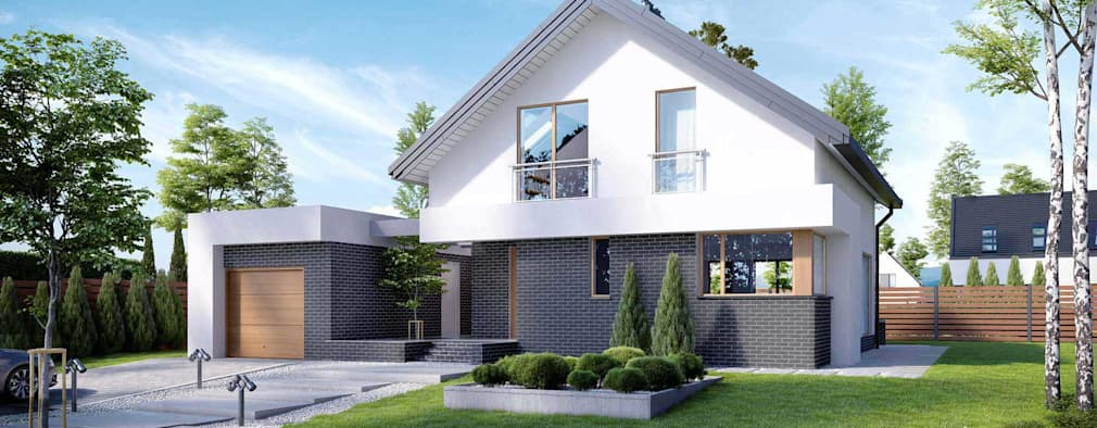 Projekt domu HomeKONCEPT-03: styl nowoczesne, w kategorii Domy zaprojektowany przez HomeKONCEPT | Projekty Domów Nowoczesnych