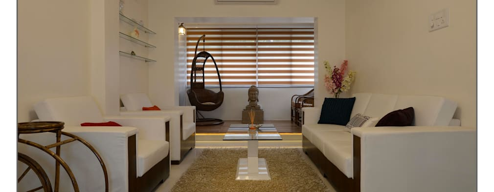 Living Room: modern Living room by Navmiti Designs