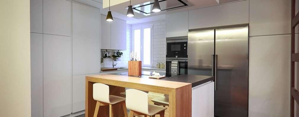 Cocinas de estilo moderno por Línea 3 Cocinas Madrid