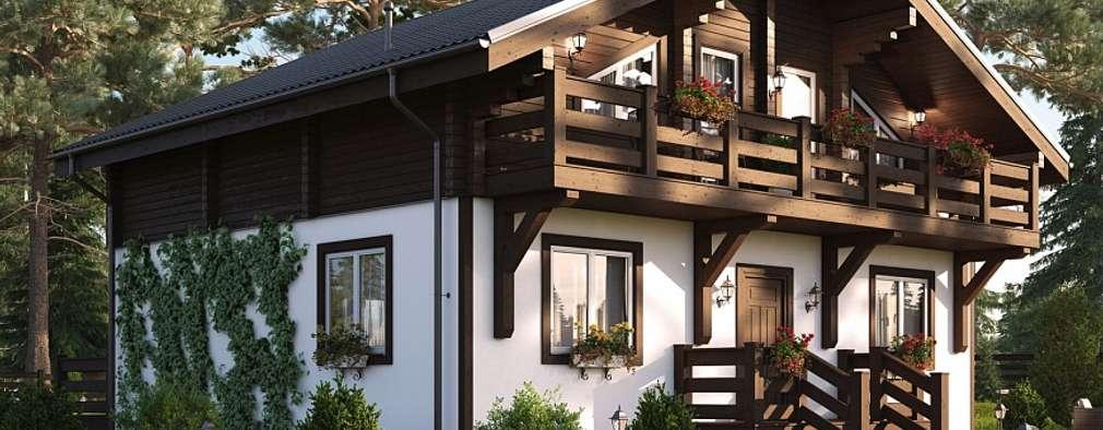 Projekty, klasyczne Domy zaprojektowane przez GOOD WOOD