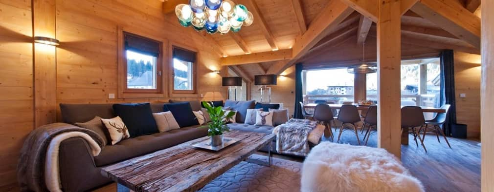 Ski Chalet Living Room 2:   by David Village Lighting