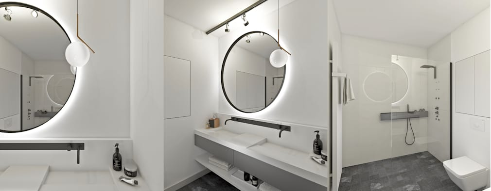 Baños de estilo minimalista por Marta Wypych | pracownia projektowa