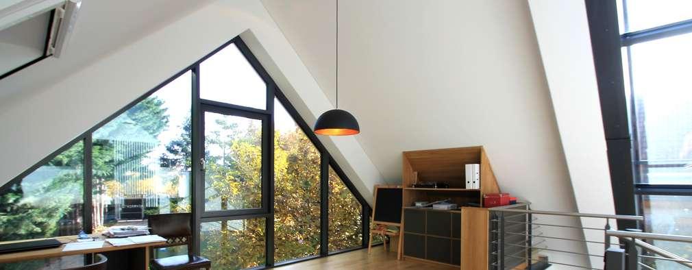 modern Study/office by Architekturbüro Schumann