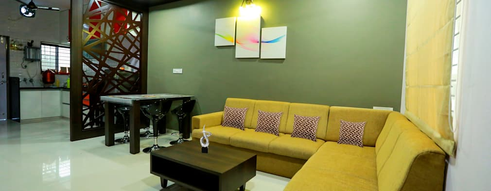 Living Room: modern Living room by ZEAL Arch Designs