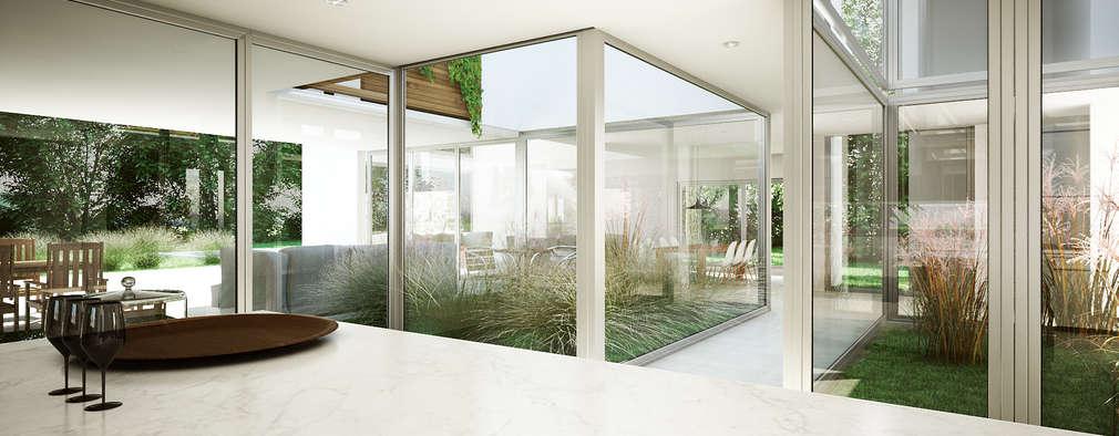 minimalistic Kitchen by Estudio Medan Arquitectos