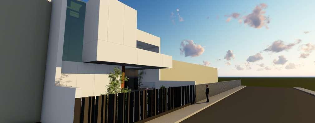 Projekty, nowoczesne Domy zaprojektowane przez ESTUDIOMORENATE