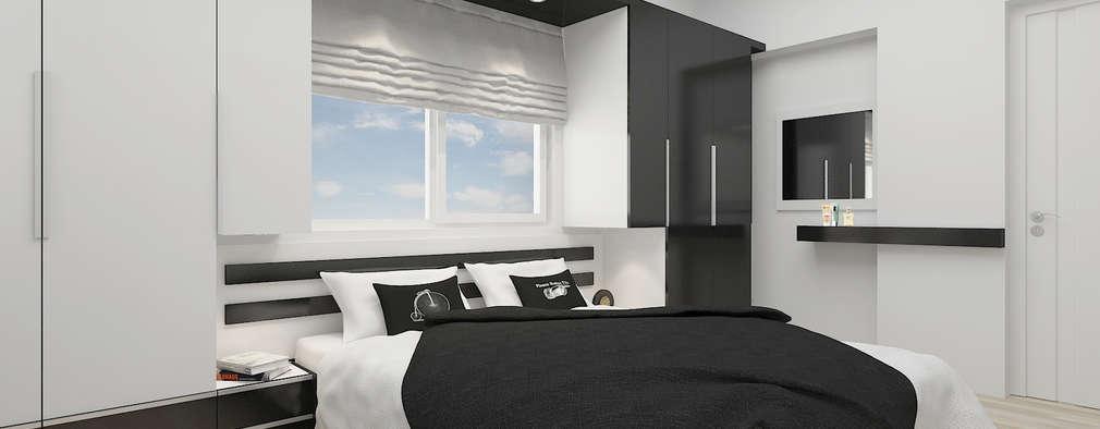 PRATIKIZ Mimarlık/ Architecture – BM, Yatak Odası: modern tarz Yatak Odası