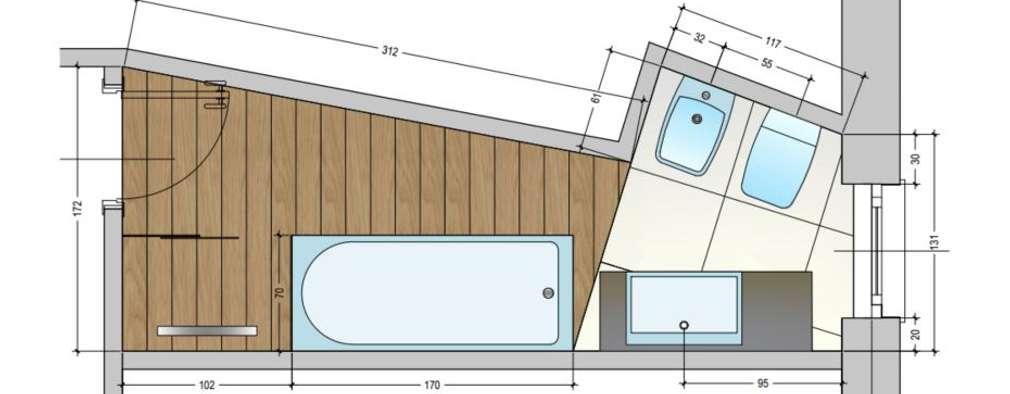 Baños de estilo moderno por Architetto Alberto Colella