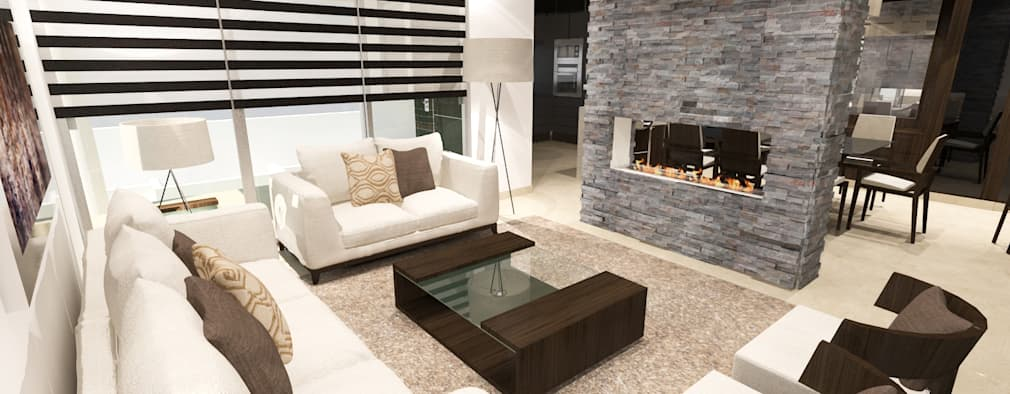 modern Living room by Prototipo Arquitectos