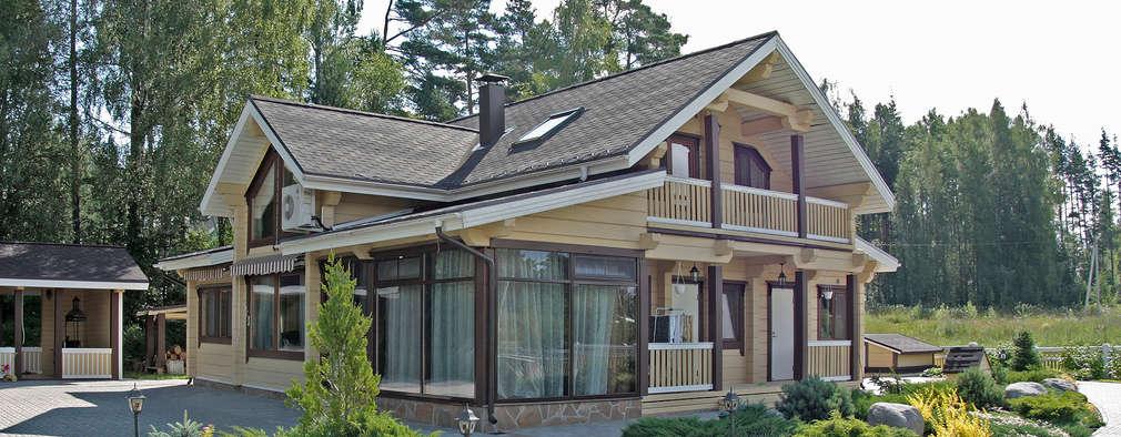 Брусовой дом вблизи поселка Мельниково: Дома в . Автор – Дмитрий Кругляк