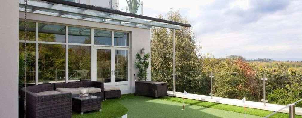 Terras door Des Ewing Residential Architects