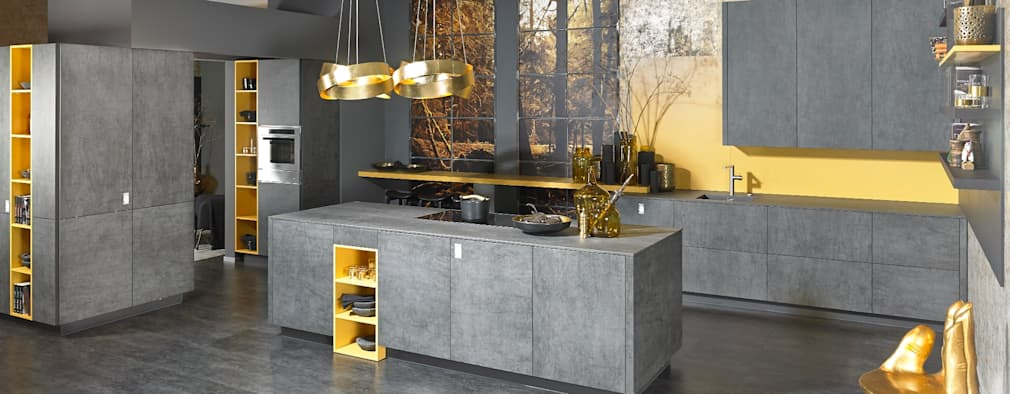 Alno Ag swish kitchens that put color to great use