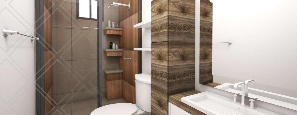 Baños de estilo moderno por CDR CONSTRUCTORA