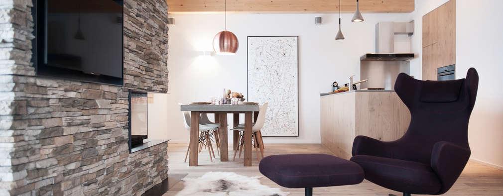 Projekty,  Salon zaprojektowane przez Mood Interieur