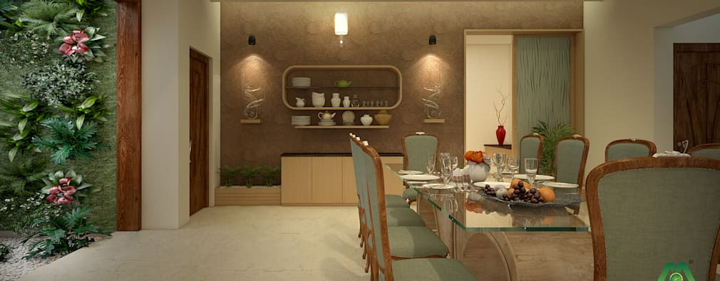 Interiors with Ultra Modern Designs: modern Dining room by Premdas Krishna