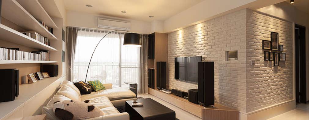 scandinavian Living room by 思維空間設計