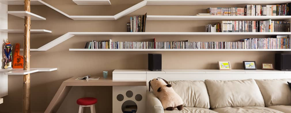 Salas / recibidores de estilo escandinavo por 思維空間設計