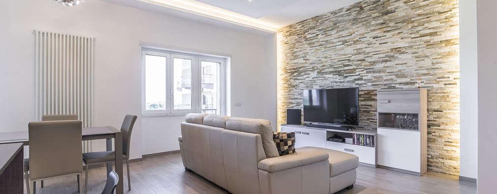 رہنے کا کمرہ  by Facile Ristrutturare