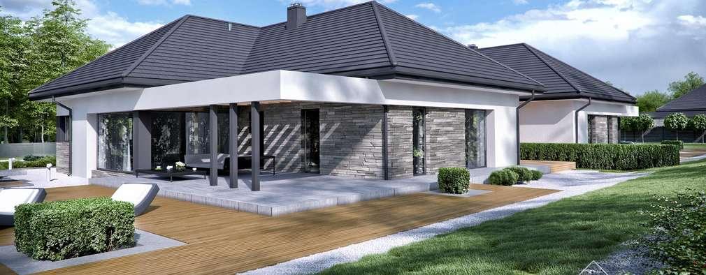 Дома в . Автор – HomeKONCEPT   Projekty Domów Nowoczesnych