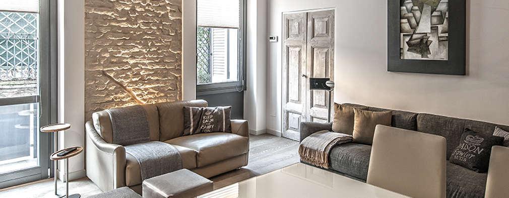 Salas / recibidores de estilo moderno por BRANDO concept