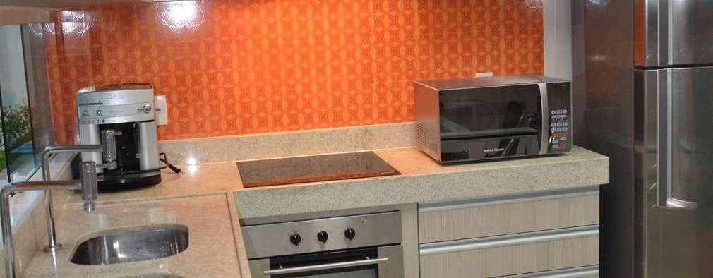 Projekty,  Kuchnia zaprojektowane przez Cris Nunes Arquiteta