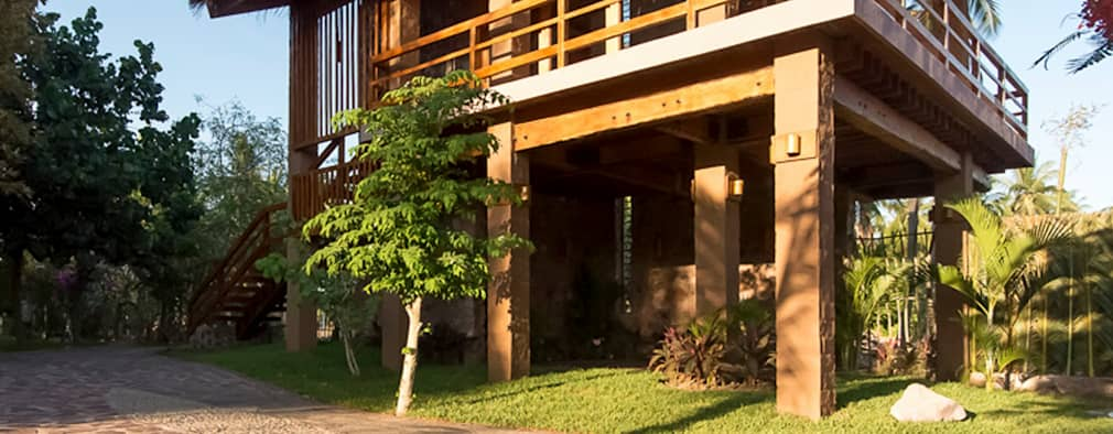 Casas de estilo rústico por Cervantesbueno arquitectos