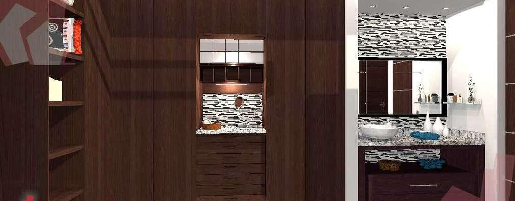 Vestidor Makulis: Vestidores y closets de estilo moderno por Escay Soluciones