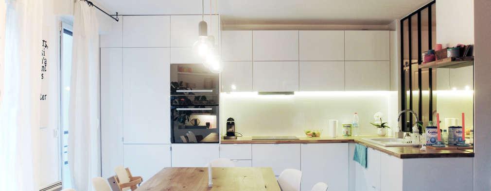 scandinavian Kitchen by Belle Ville Atelier d'Architecture