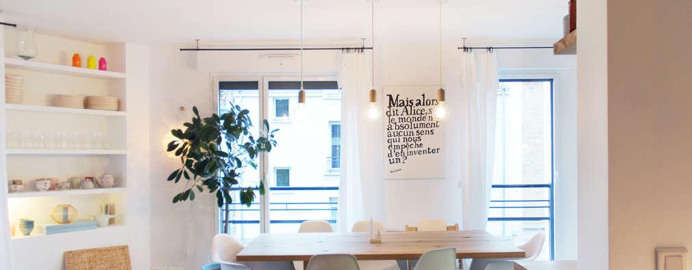 Comedores de estilo escandinavo por Belle Ville Atelier d'Architecture