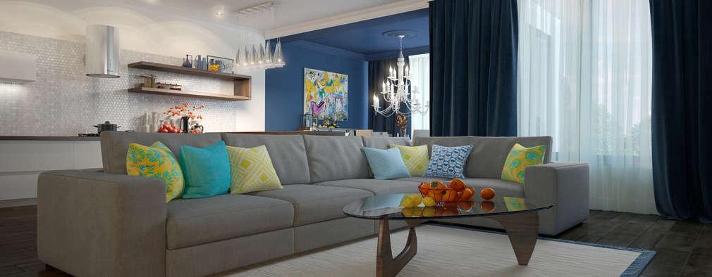 modern Living room by design studio by Mariya Rubleva