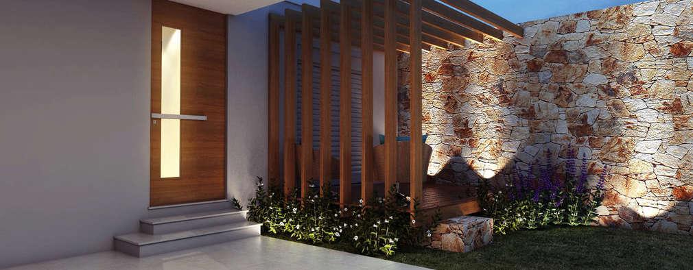 27 portas de entrada perfeitas para deixar a casa convidativa - Entrada de casas modernas ...