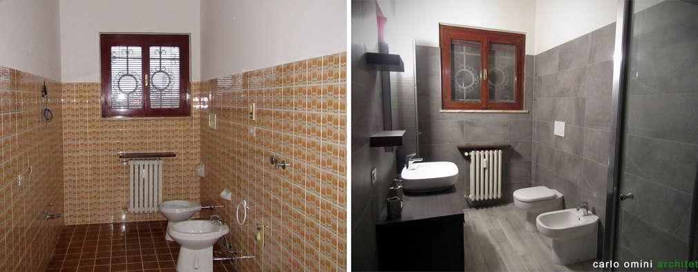modern Bathroom by CARLO OMINI ARCHITETTO