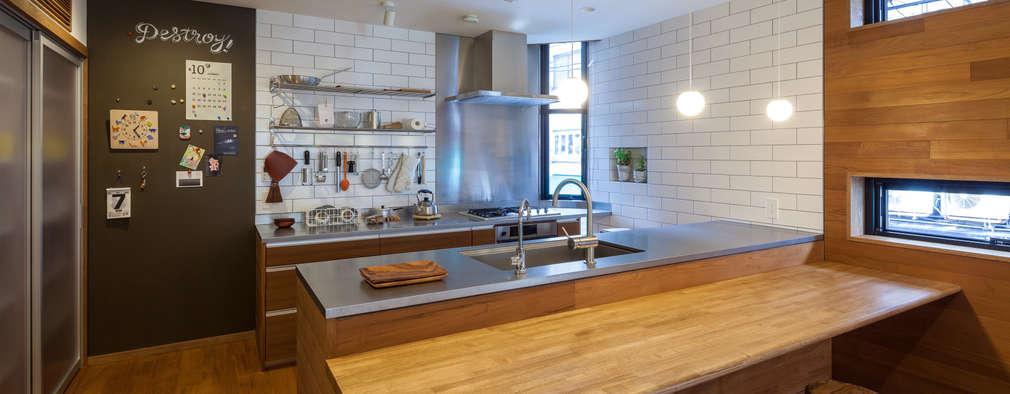 キッチン: エム・アイ・エー・アーキテクツ有限会社が手掛けたキッチンです。