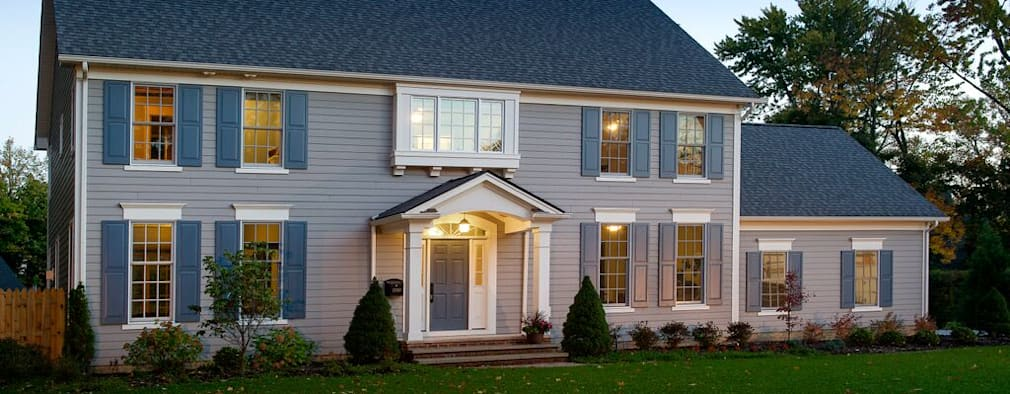 colonial Houses by New Leaf Home Design