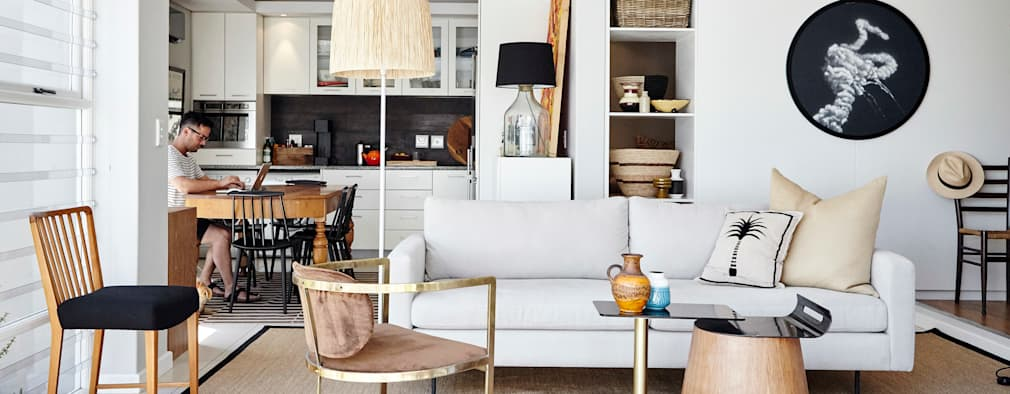 Apartment Boundary: eclectic Living room by Liam Mooney Studio