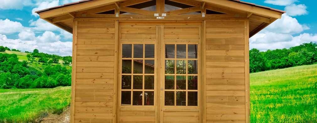 Projekty, rustykalne Domy zaprojektowane przez WoodMade