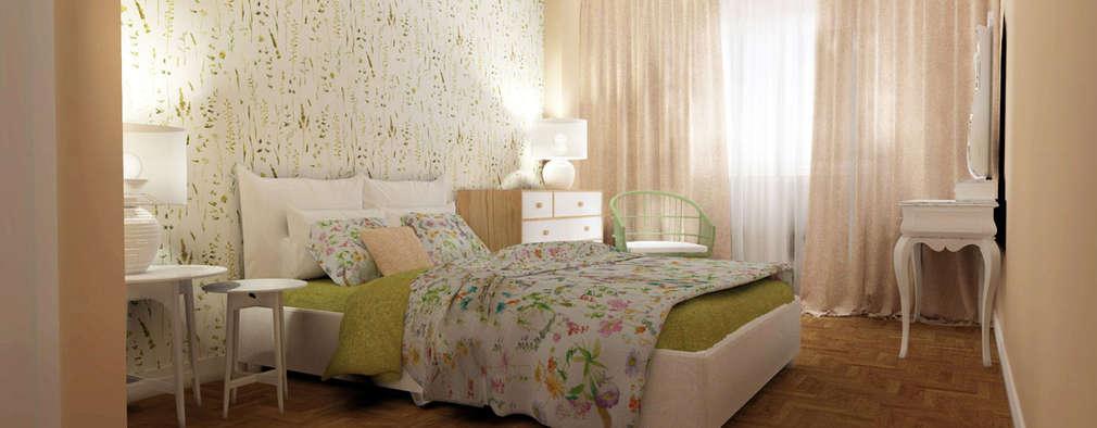 Camera da letto in stile in stile Scandinavo di Homestories