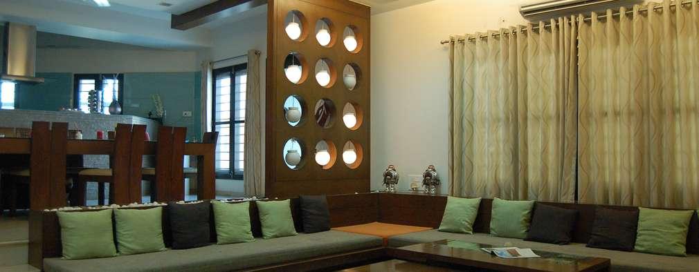 Salas / recibidores de estilo moderno por AM Associates