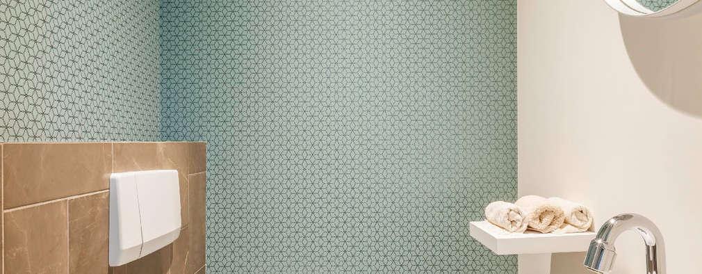Toilet: moderne Badkamer door Aangenaam Interieuradvies
