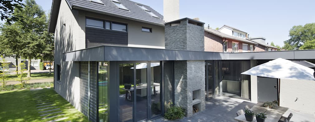 Woning Baars: moderne Huizen door Vermeer Architecten b.v.