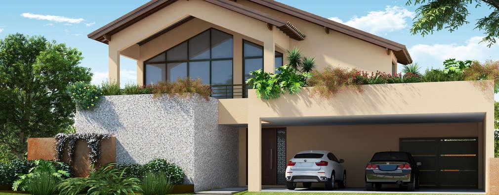 Residencial Bauru/SP_A1: Casas tropicais por Santos e Delgado Arquitetura e Construções