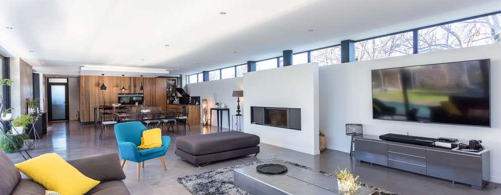 industriale Wohnzimmer von Hugues TOURNIER Architecte