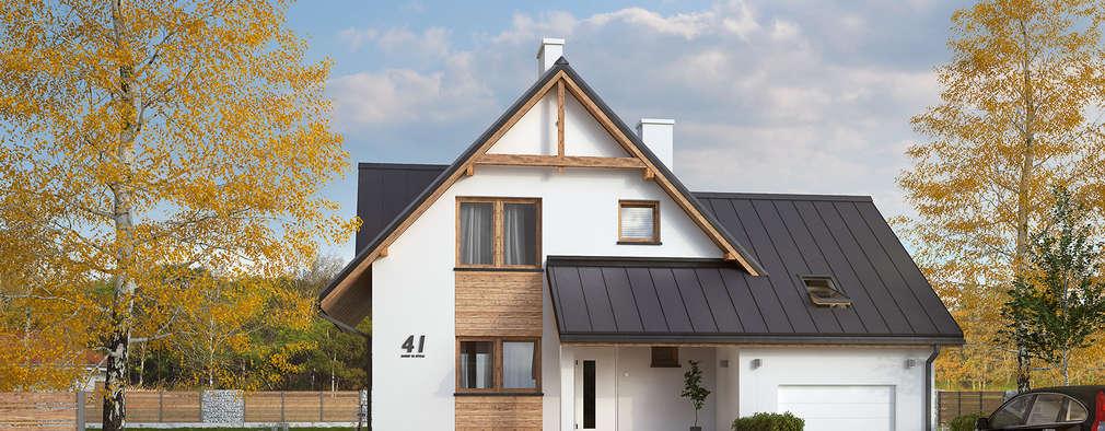 Wizualizacja projektu domu Sopran: styl nowoczesne, w kategorii Domy zaprojektowany przez Biuro Projektów MTM Styl - domywstylu.pl