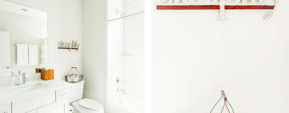 Brett Nicole Interiors: modern tarz Banyo