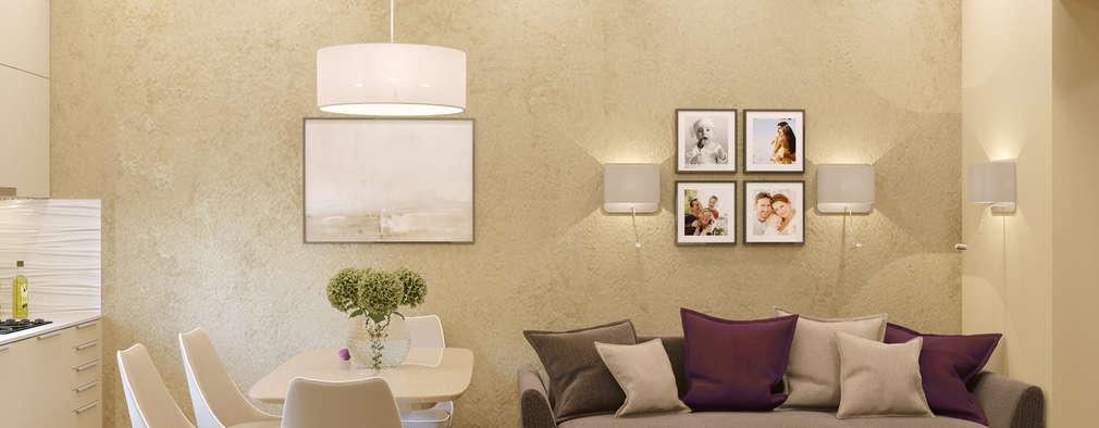 Salas de estilo ecléctico por Бюро9 - Екатерина Ялалтынова