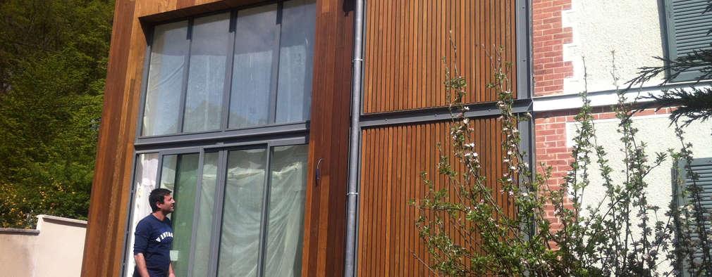 façade jardin: Maisons de style de style Moderne par Eric Rechsteiner